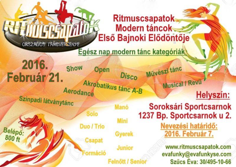 Ritmuscsapatok Első Modern tánc Bajnoki Elődöntője