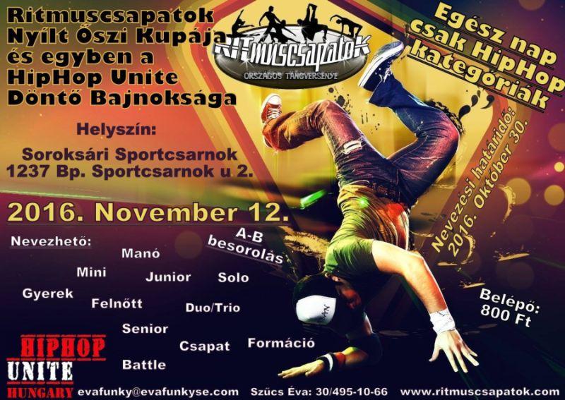 Ritmuscsapatok Őszi Kupája, a Hip Hop Unite Döntő Bajnoksága